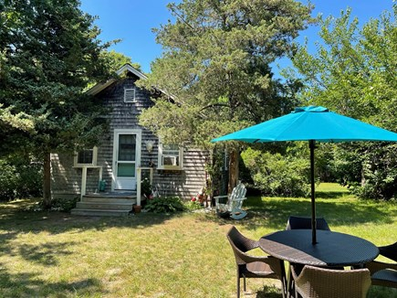 Dennis Cape Cod vacation rental - Secluded Patio dining.
