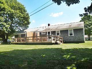 Falmouth Cape Cod vacation rental - Spacious back yard with deck and outdoor shower