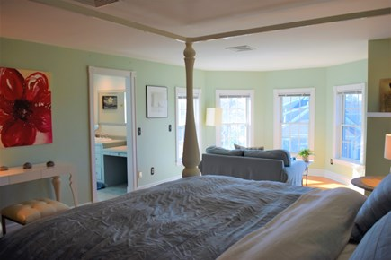 Yarmouth Port Cape Cod vacation rental - Master bedroom ... king bed, sitting area, magnificent views