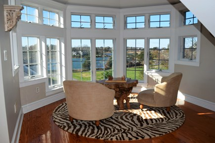 Yarmouth Port Cape Cod vacation rental - Third floor relaxing and reading area -- unbelievable views