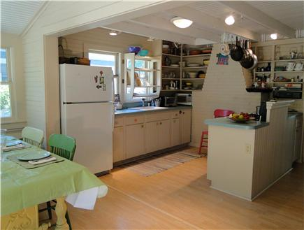 BREWSTER PARK Cape Cod vacation rental - Kitchen with bright dining area, facing deck area