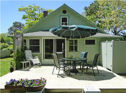 BREWSTER PARK Cape Cod vacation rental - Back Deck with outdoor shower