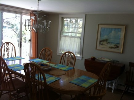 Yarmouth Cape Cod vacation rental - Dining area with deck overlooking the water
