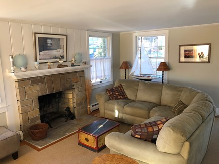 Yarmouth Cape Cod vacation rental - Living room w/ fireplace as you enter