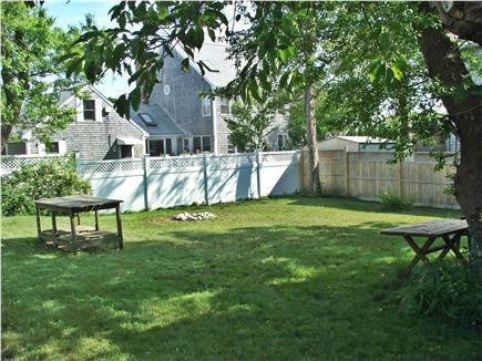 Plymouth, Manomet MA vacation rental - Spacious back yard for play, cookouts, relaxing, outdoor shower