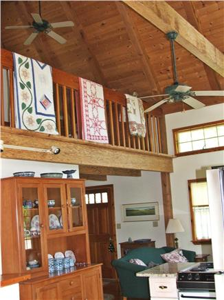 Plymouth, Manomet MA vacation rental - Open Loft,quilted railing, ceiling fans, posts & vaulted ceilings