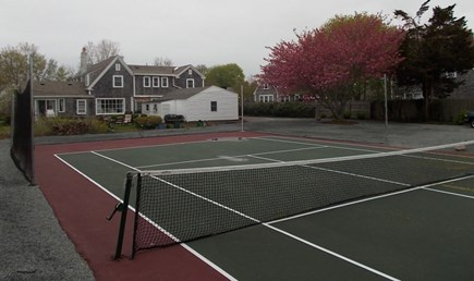 Hyannis, Barnstable Cape Cod vacation rental - Backyard - Tennis Court and fire pit