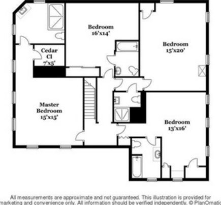 Hyannis, Barnstable Cape Cod vacation rental - Floor plan - Second Floor