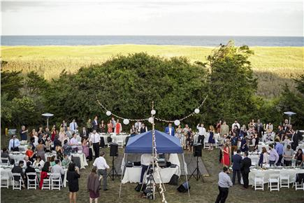 Orleans Cape Cod vacation rental - The yard. Recent wedding hosted at the house,