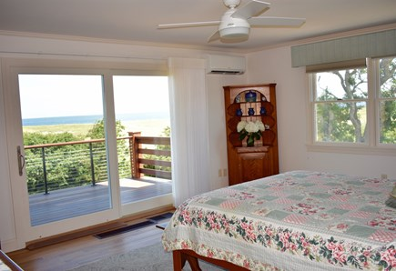 Orleans Cape Cod vacation rental - Master Bedroom with sliding doors to deck and ocean view