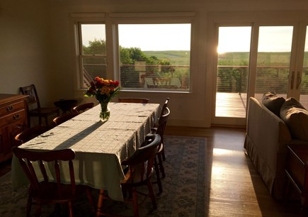 Orleans Cape Cod vacation rental - Morning sunrise into the dining room