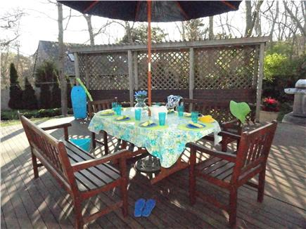 North Eastham Cape Cod vacation rental - Enjoy casual dining or sun bathing on this private deck