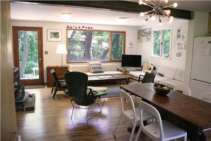 South Wellfleet Cape Cod vacation rental - Living room from Kitchen