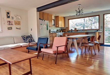 South Wellfleet Cape Cod vacation rental - Living Room and Kitchen