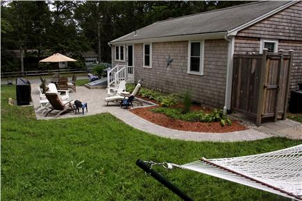 Harwich, Pleasant Lake Cape Cod vacation rental - Relax on the Patio or in the Hammock, Take An Outdoor Shower