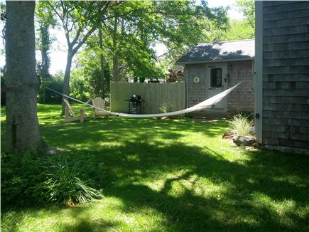 Dennis Cape Cod vacation rental - Part of the back yard with hammock