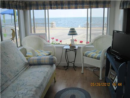 Dennisport Cape Cod vacation rental - Screened porch with futon and magnificent water views
