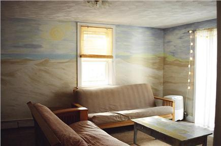Falmouth Cape Cod vacation rental - Living room with TV, pull out futon