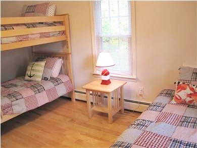 Dennis Cape Cod vacation rental - Children's room with twin bunk beds and a single twin bed