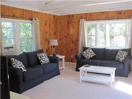 Dennis Cape Cod vacation rental - Family room with window a/c unit