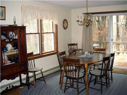 Wellfleet Cape Cod vacation rental - Dining room with sliders to the deck