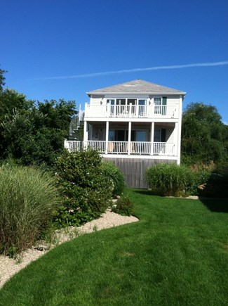 West Yarmouth Cape Cod vacation rental - Deck side view facing Seagull beach and Bass River inlet