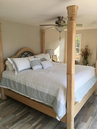 West Yarmouth Cape Cod vacation rental - 2nd floor master bedroomKing size bedslider to top deck