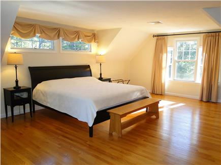 Wellfleet Cape Cod vacation rental - Upstairs King master with flat screen TV, private balcony