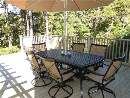 Wellfleet Cape Cod vacation rental - Deck Dining Table - Enjoy outside meals