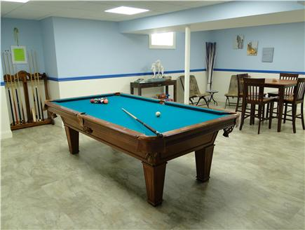 Wellfleet Cape Cod vacation rental - Rec room also includes pool table, walk out slider to back yard