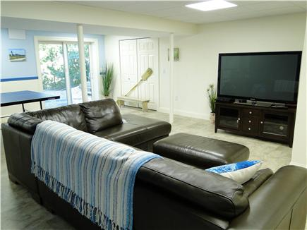 Wellfleet Cape Cod vacation rental - Downstairs rec room with TV, ping pong