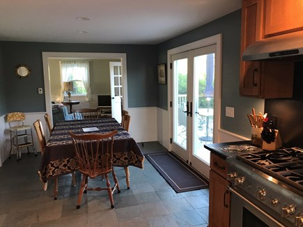 Chatham Cape Cod vacation rental - Kitchen and adjoining dining room with double doors to deck.
