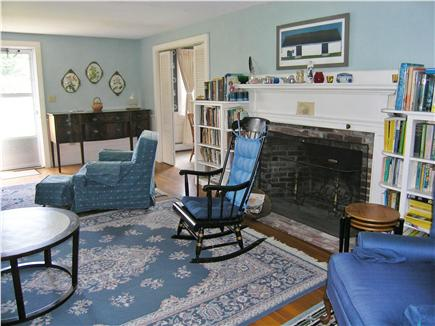 Chatham Cape Cod vacation rental - Spacious living room with sofa and comfy chairs. Books. Games.
