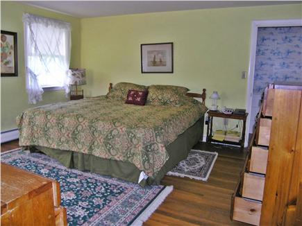 Chatham Cape Cod vacation rental - Master Bedroom with king size bed and bath.