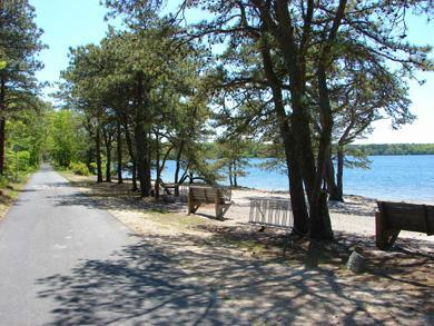 Brewster, The Highlands on Seymours Pond Cape Cod vacation rental - Cape Cod Rail Trail along Seymour Pond