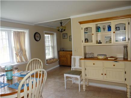 South Yarmouth Cape Cod vacation rental - Dining room table that seats 4-6 with hutch, kitchen work station