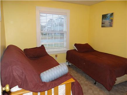 South Yarmouth Cape Cod vacation rental - Bedroom #2 - full futon and twin bed, wicker bureau & closet
