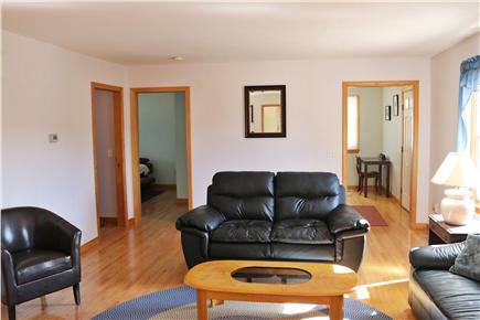 Truro Cape Cod vacation rental - Living Room looking at Front Door