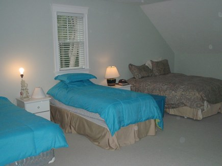 Orleans Cape Cod vacation rental - Large Bedroom with 3 beds, 2 doubles and 1 twins