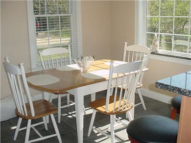 Eastham Cape Cod vacation rental - Dining room with large West- facing window for sunsets