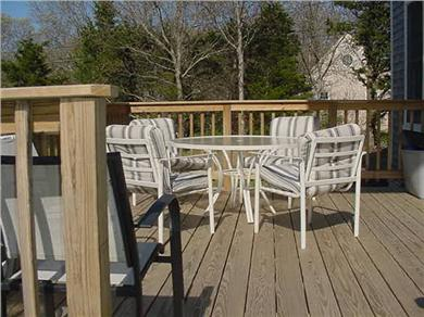 Eastham Cape Cod vacation rental - Large (12X12) deck overlooking beautiful private lawn