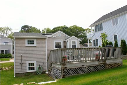 Mashpee Cape Cod vacation rental - Back Deck & Rinsing Station