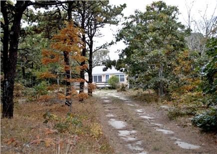 North Eastham Cape Cod vacation rental - COTTAGE FROM DRIVEWAY