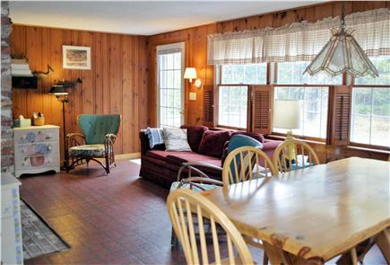 North Eastham Cape Cod vacation rental - BRIGHT LIVING AREA OVERLOOKING FRONT DECK
