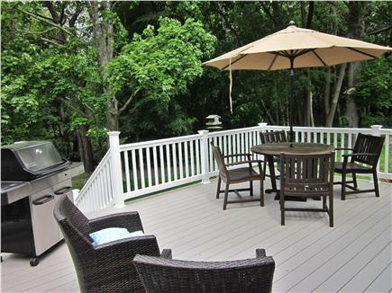 East Orleans Cape Cod vacation rental - Enjoy relaxing & eating on the spacious deck.