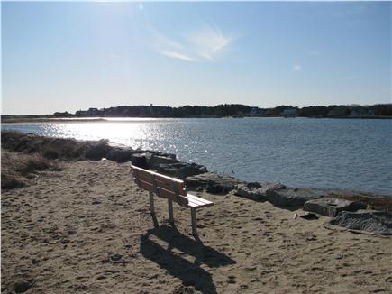 West Dennis Cape Cod vacation rental - Bench at West Dennis Beach overlooking Bass River