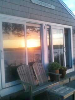 South Dennis Cape Cod vacation rental - ground level deck - 180 degree ocean views