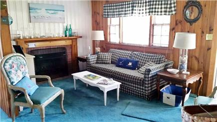 West Yarmouth Cape Cod vacation rental - Cozy Living room with pull out couch