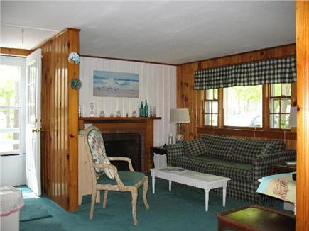 West Yarmouth Cape Cod vacation rental - Cozy Living room, door on side opens to deck