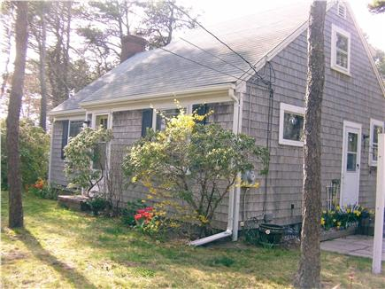 Chatham Cape Cod vacation rental - Front/side of house - privacy screen & outdoor area sets up (ns)